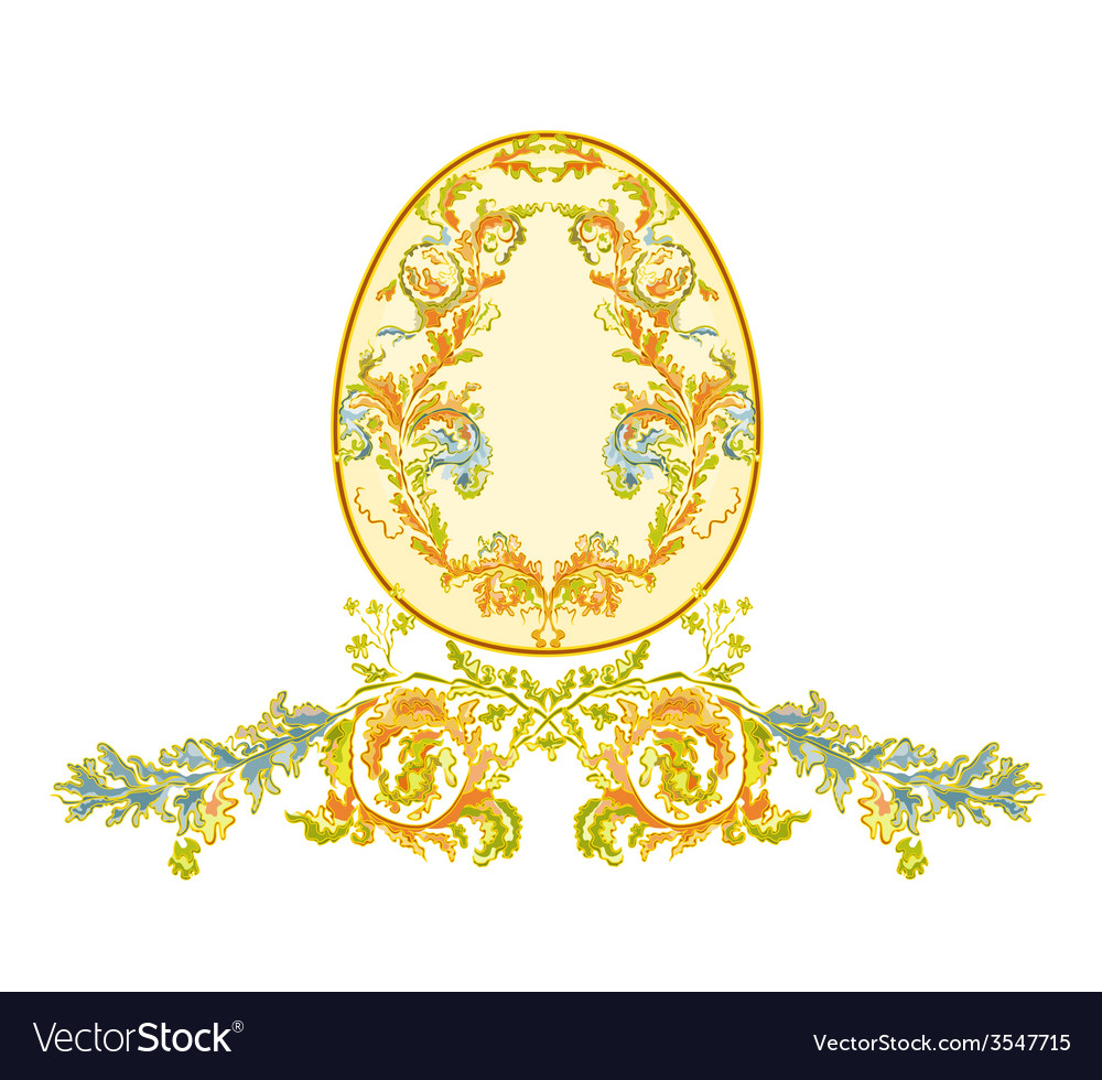 Easter eggs with ornamental pattern vector | Price: 1 Credit (USD $1)