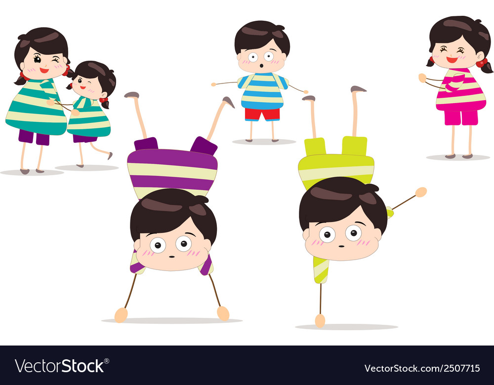 Energetic kids vector | Price: 1 Credit (USD $1)