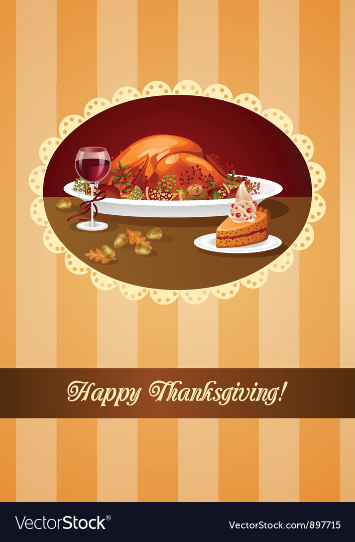 Happy thanksgiving greeting vector | Price: 3 Credit (USD $3)