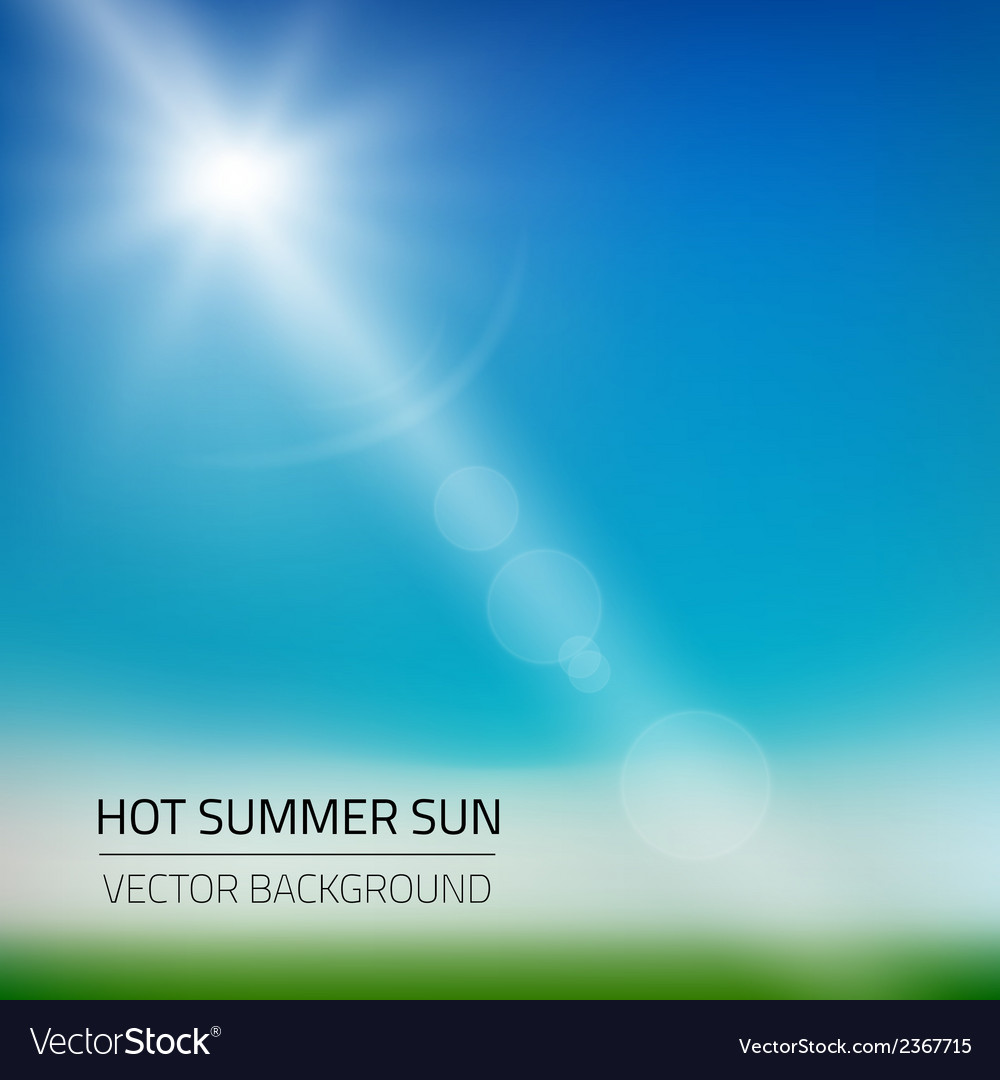 Hot summer sun background vector | Price: 1 Credit (USD $1)