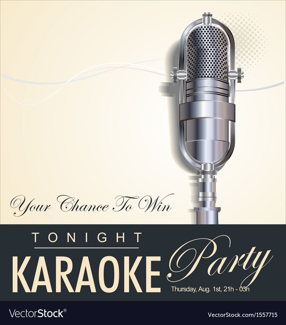 Karaoke party background vector | Price: 1 Credit (USD $1)