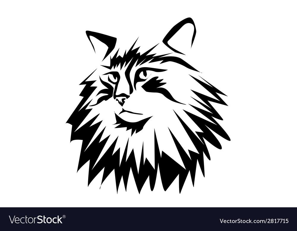 Norwegian forest cat vector | Price: 1 Credit (USD $1)