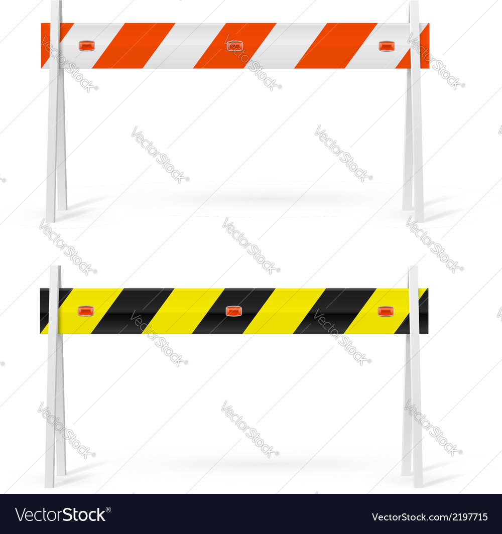 Road barrier vector | Price: 1 Credit (USD $1)