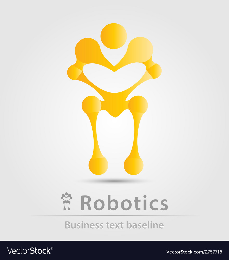 Robot and robotics business icon vector | Price: 1 Credit (USD $1)