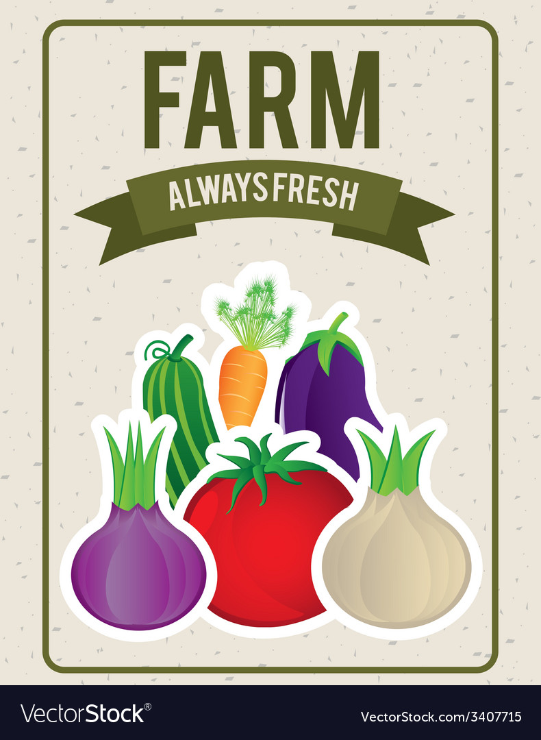 Vegetables design vector | Price: 1 Credit (USD $1)