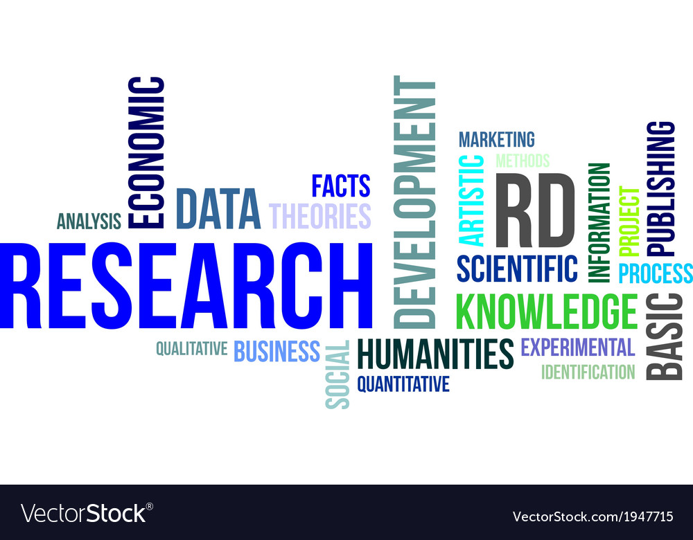 Word cloud research vector | Price: 1 Credit (USD $1)