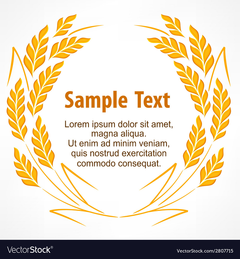 Wreath of stylized wheat ears vector | Price: 1 Credit (USD $1)