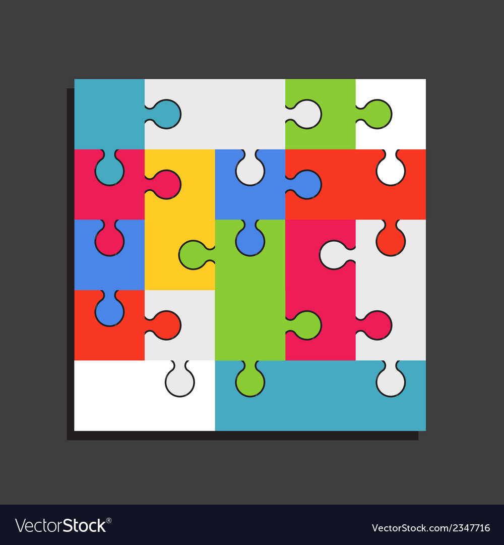 Abstract color puzzle template vector | Price: 1 Credit (USD $1)