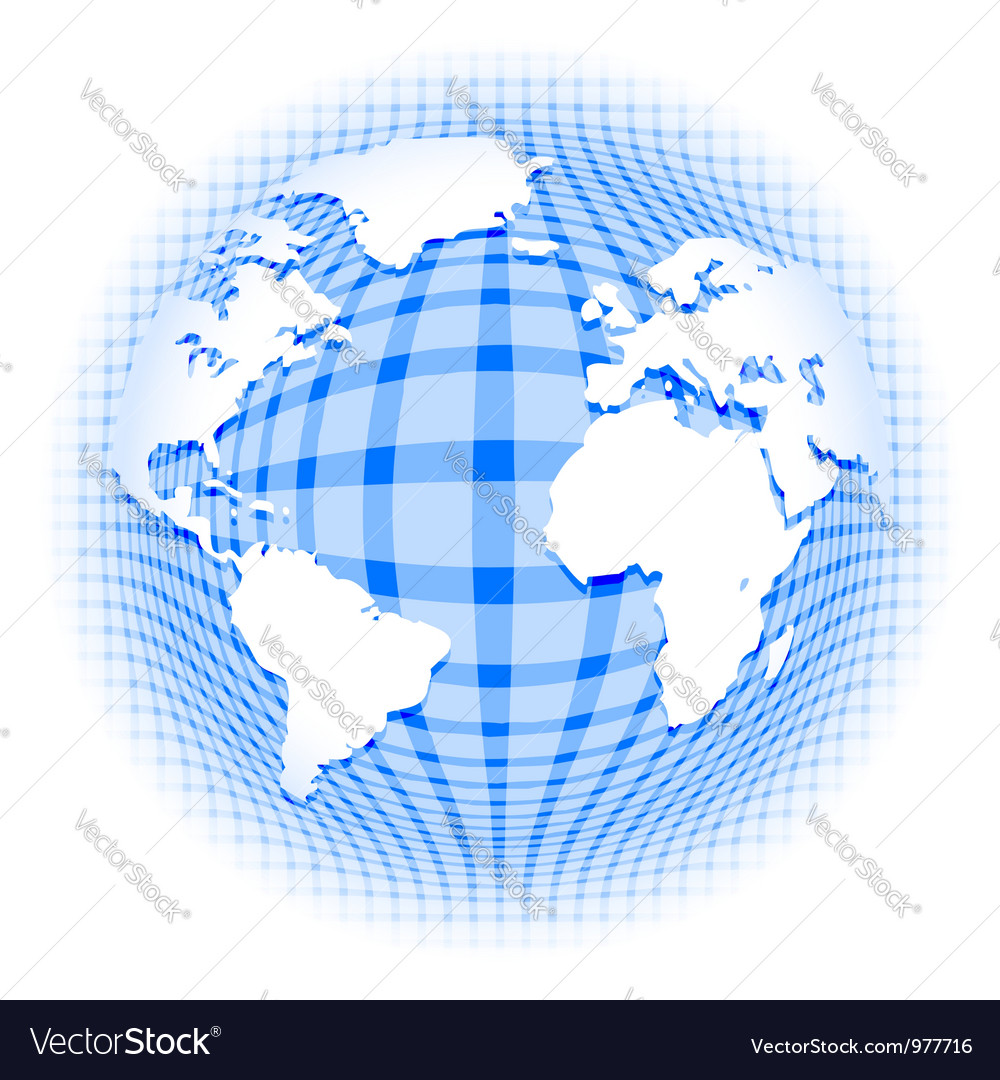 Checkered pattern earth vector | Price:  Credit (USD $)