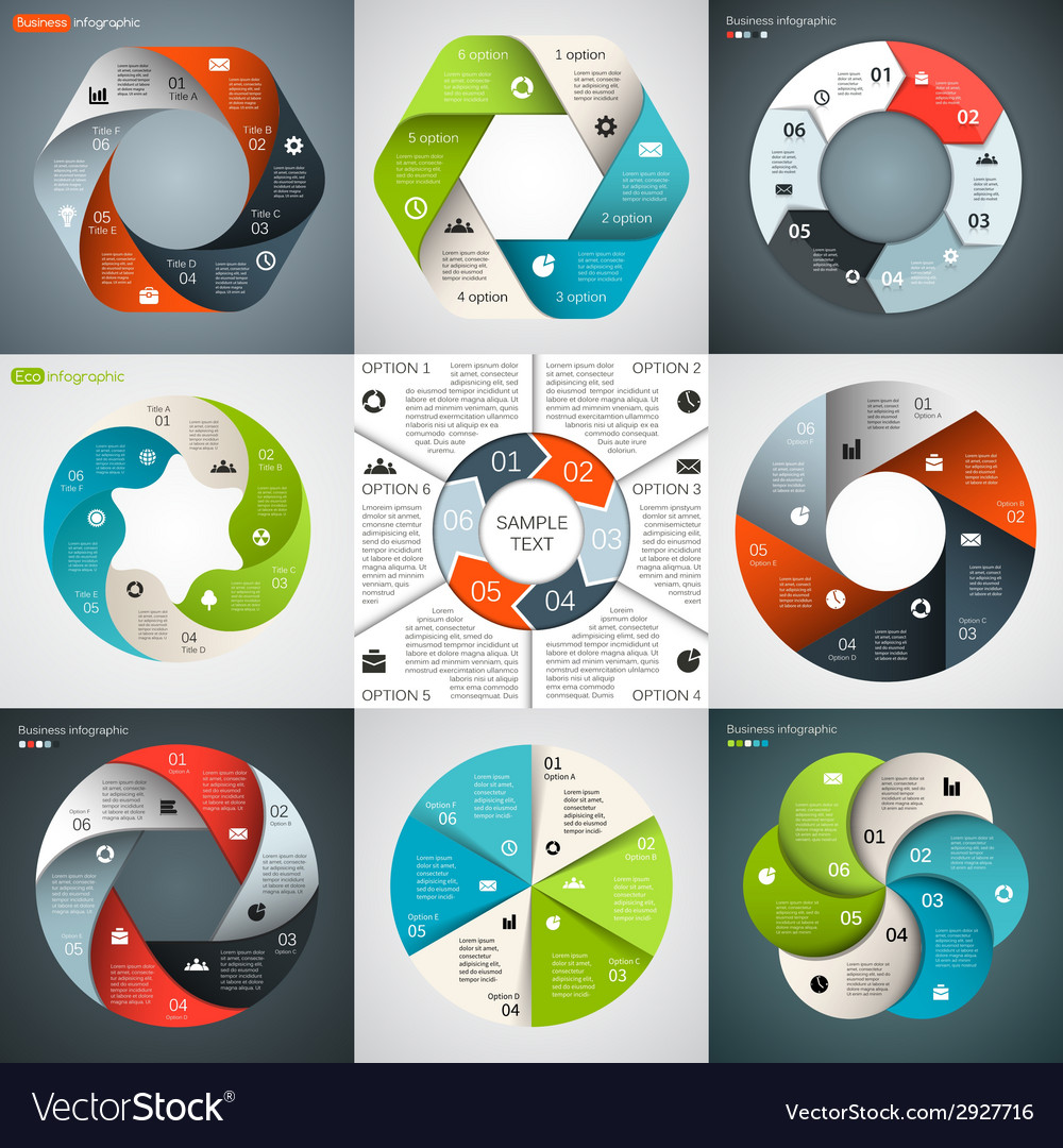 Circle infographic template for diagram graph vector | Price: 1 Credit (USD $1)