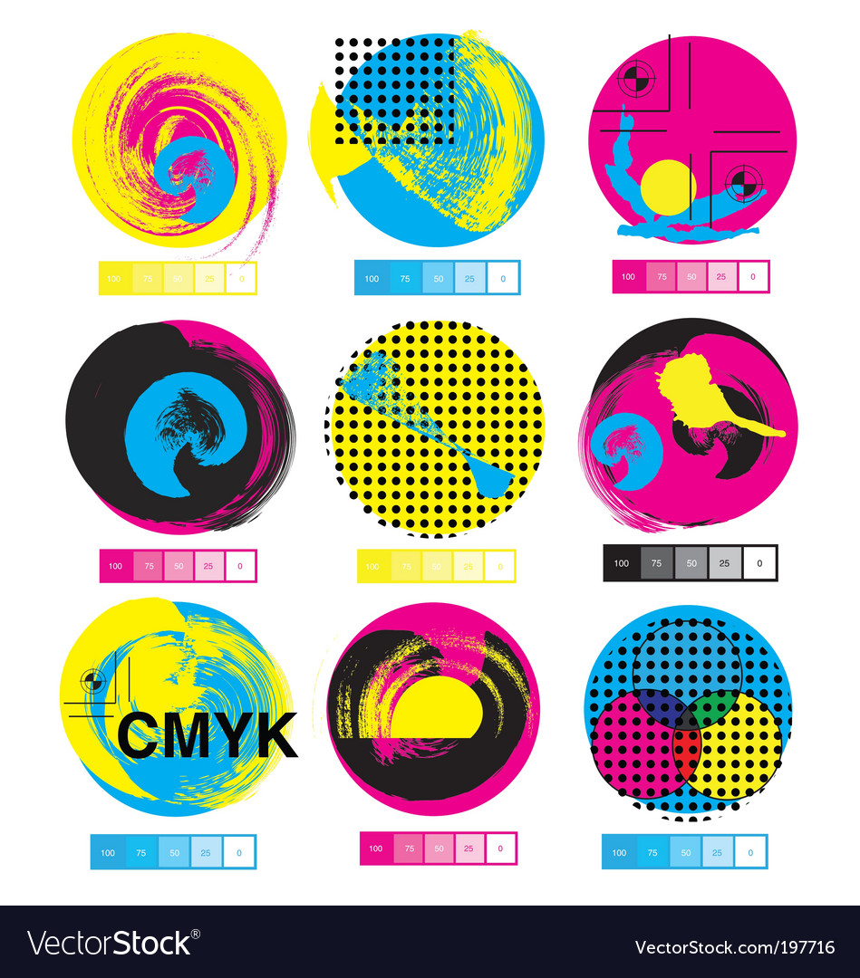 Cmyk logos vector | Price: 1 Credit (USD $1)