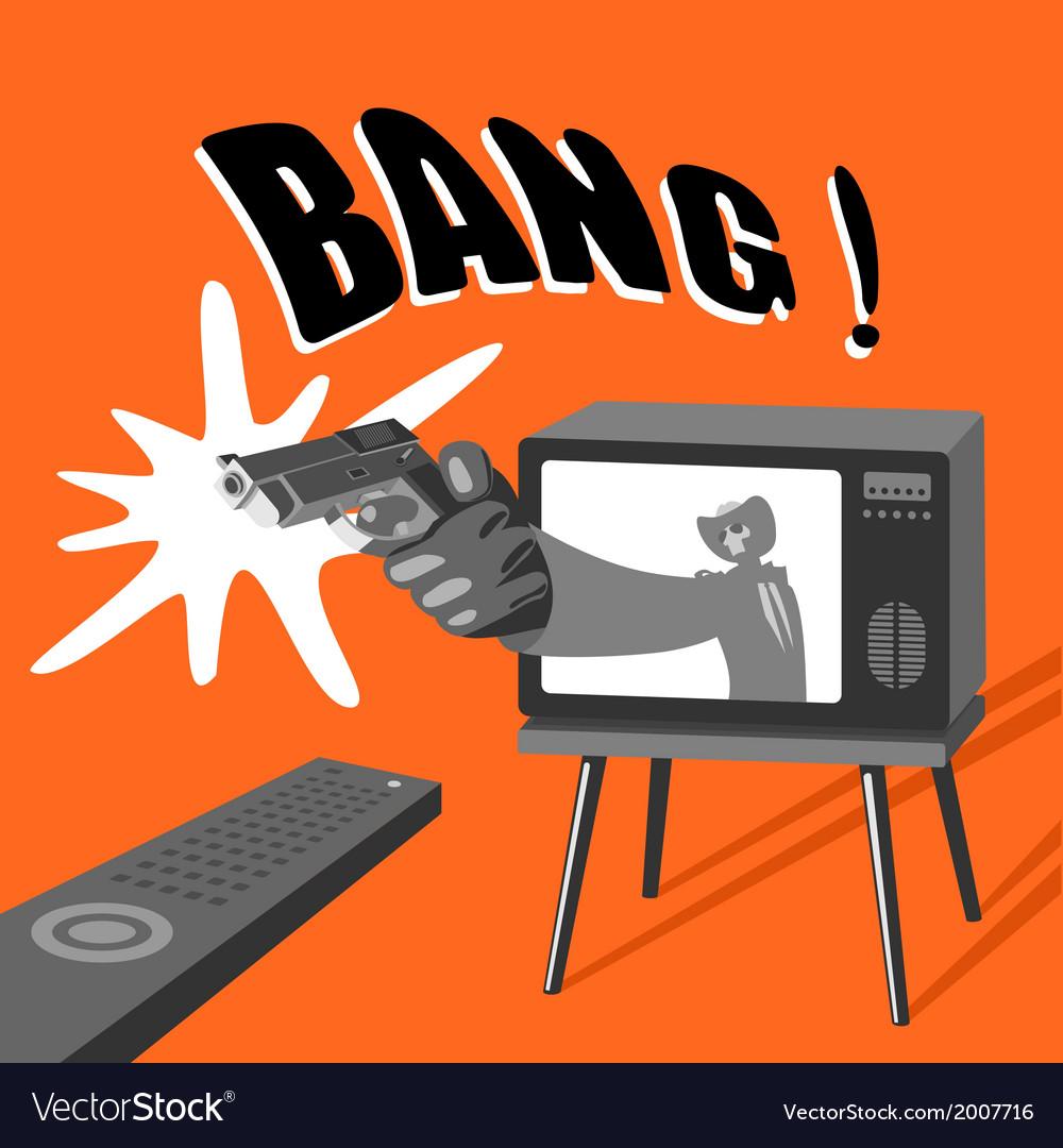 Dangerous tv vector   Price: 1 Credit (USD $1)