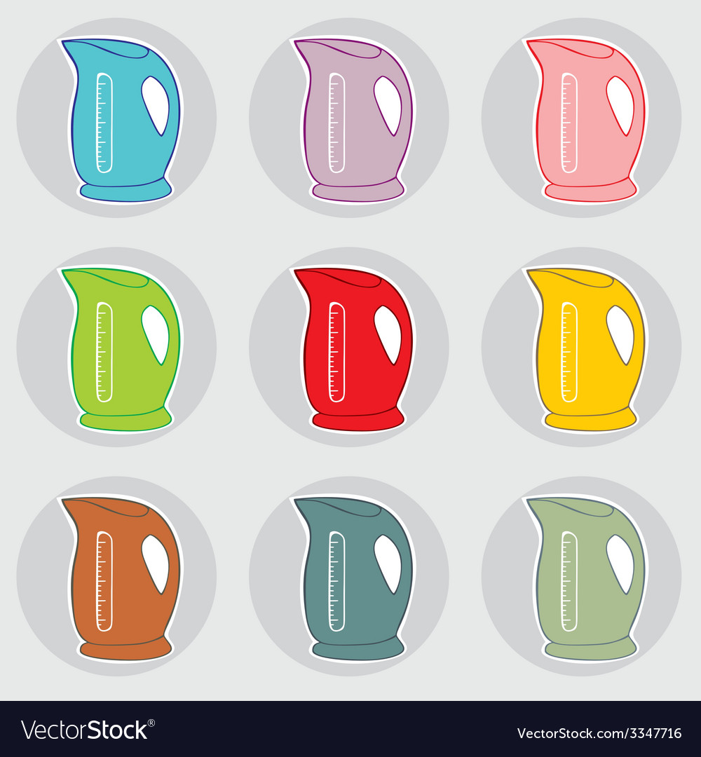 Electric kettles vector | Price: 1 Credit (USD $1)