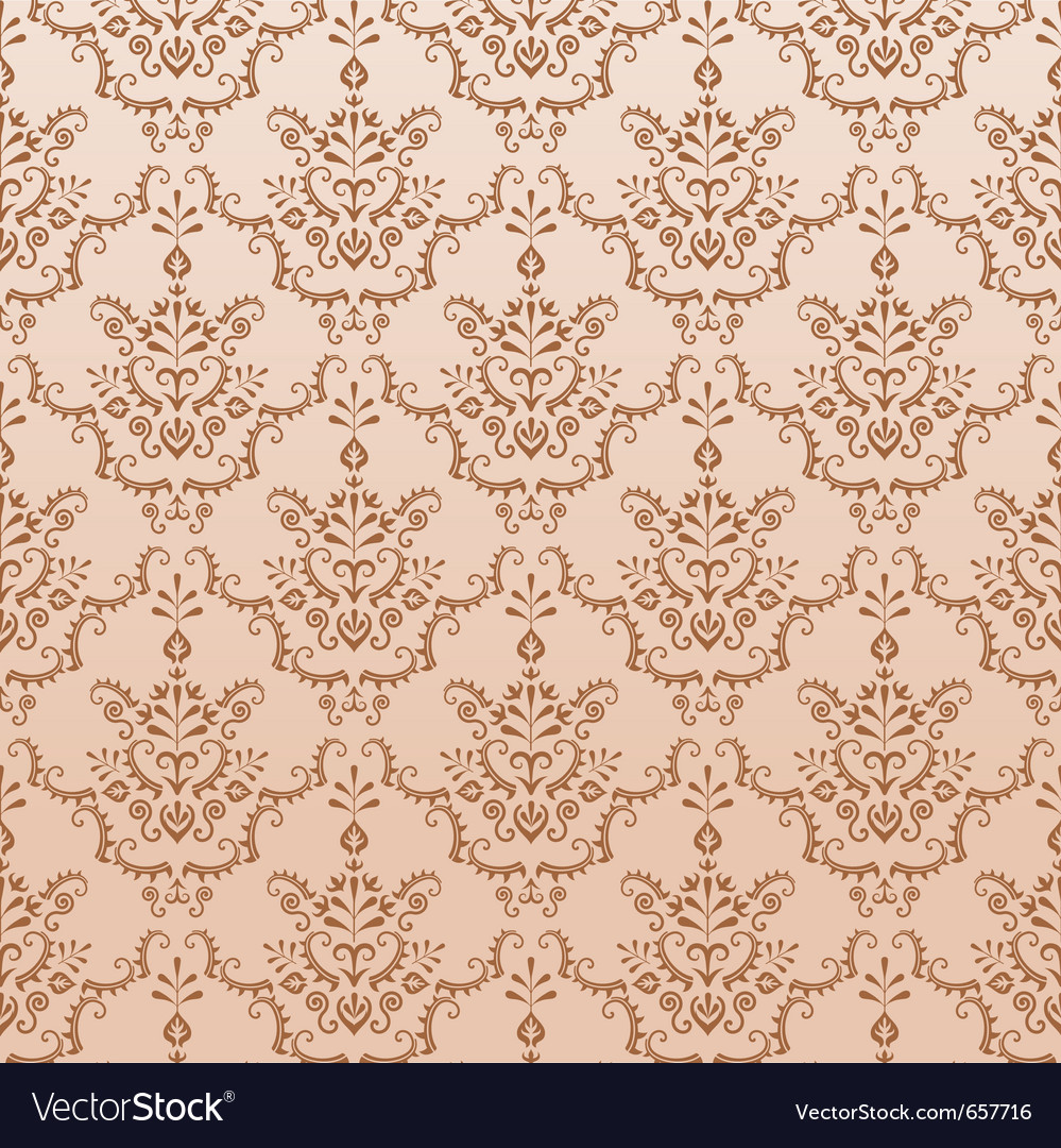 Golden seamless damask pattern vector | Price: 1 Credit (USD $1)
