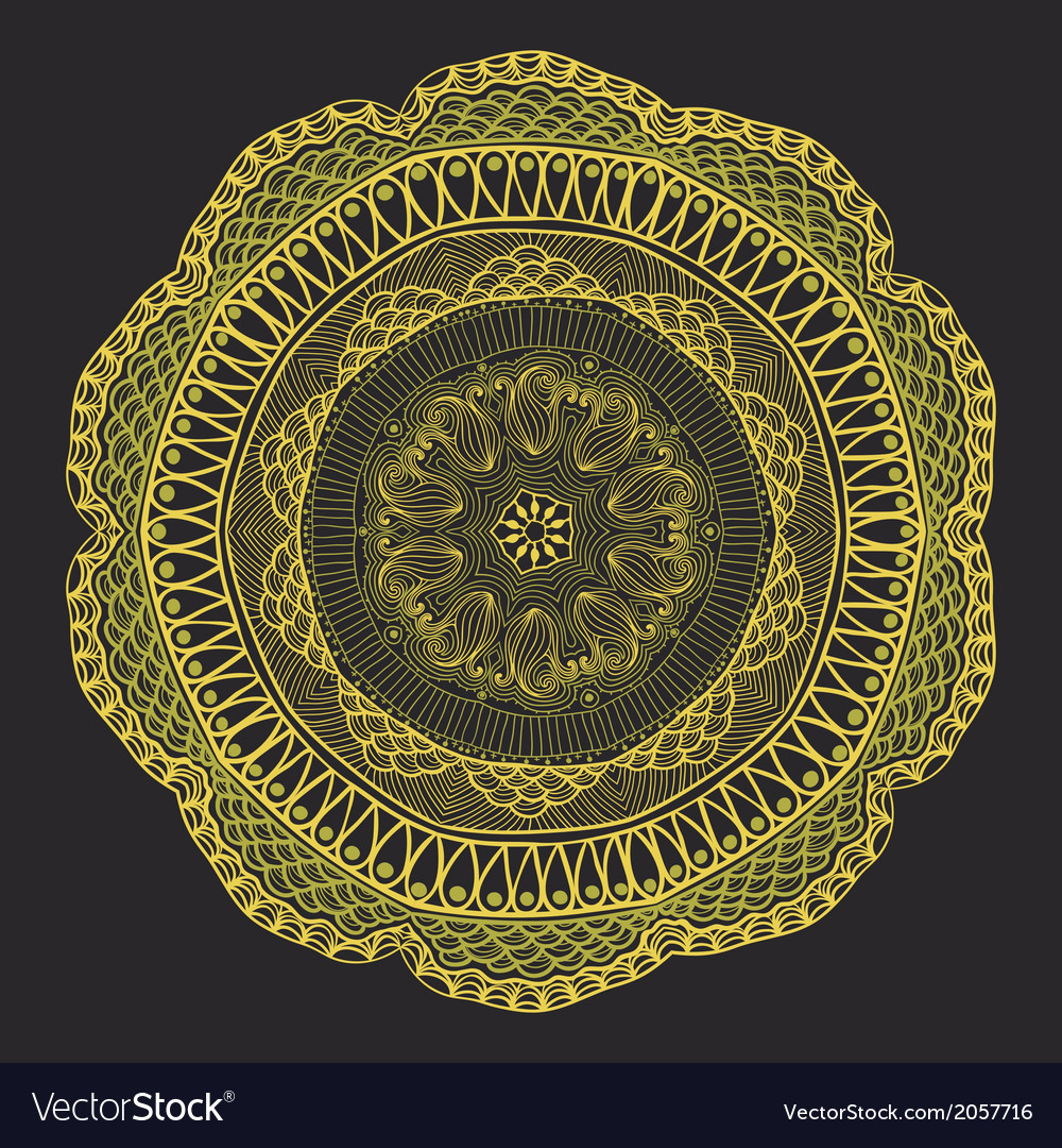 Ornamental round lace pattern circle background vector | Price: 1 Credit (USD $1)