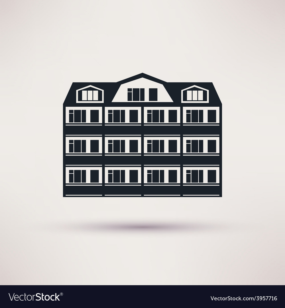 Sanatorium the building is an icon flat vector | Price: 1 Credit (USD $1)