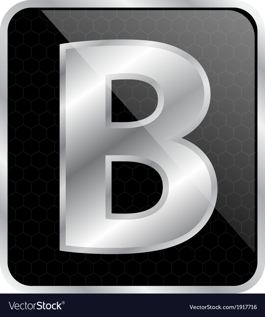 Silver typographic b vector | Price: 1 Credit (USD $1)