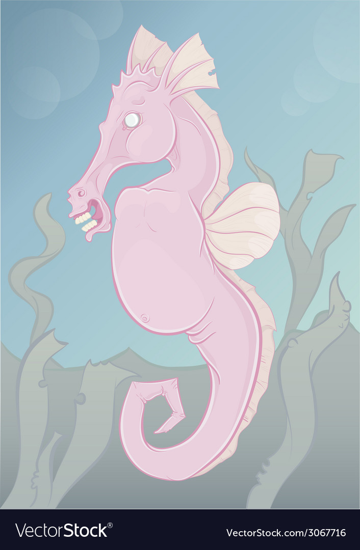 Spooky seahorse vector | Price: 1 Credit (USD $1)