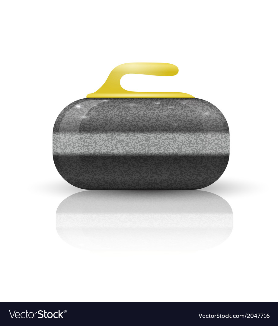 Stone for curling sport game vector | Price: 1 Credit (USD $1)