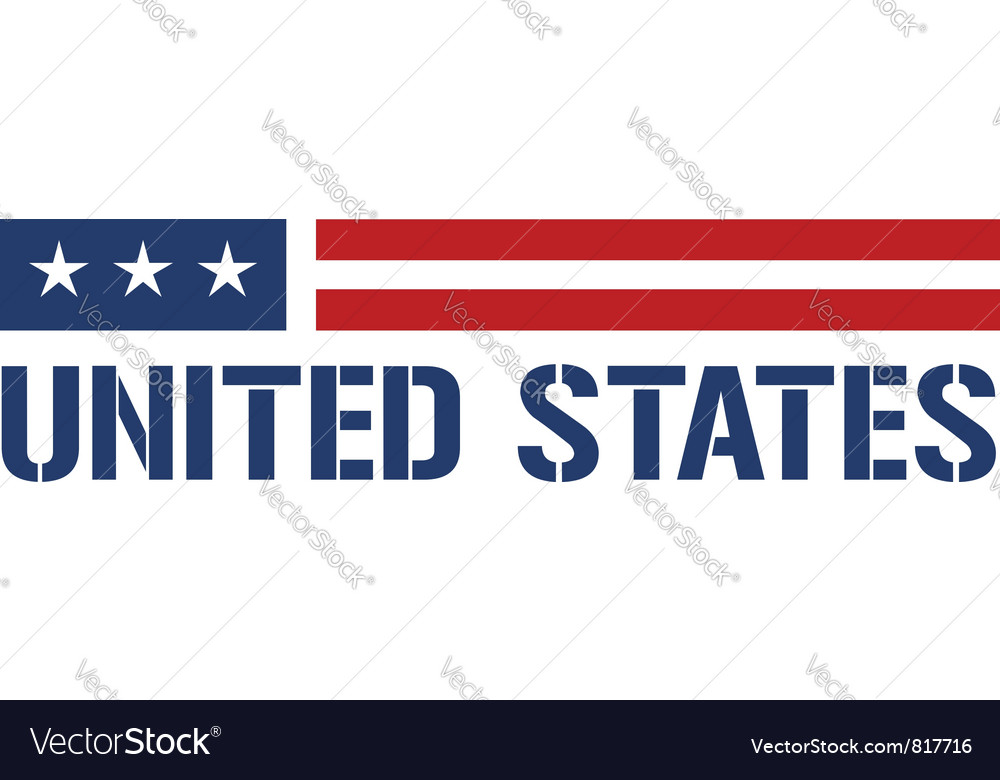 United states symbol vector | Price: 1 Credit (USD $1)