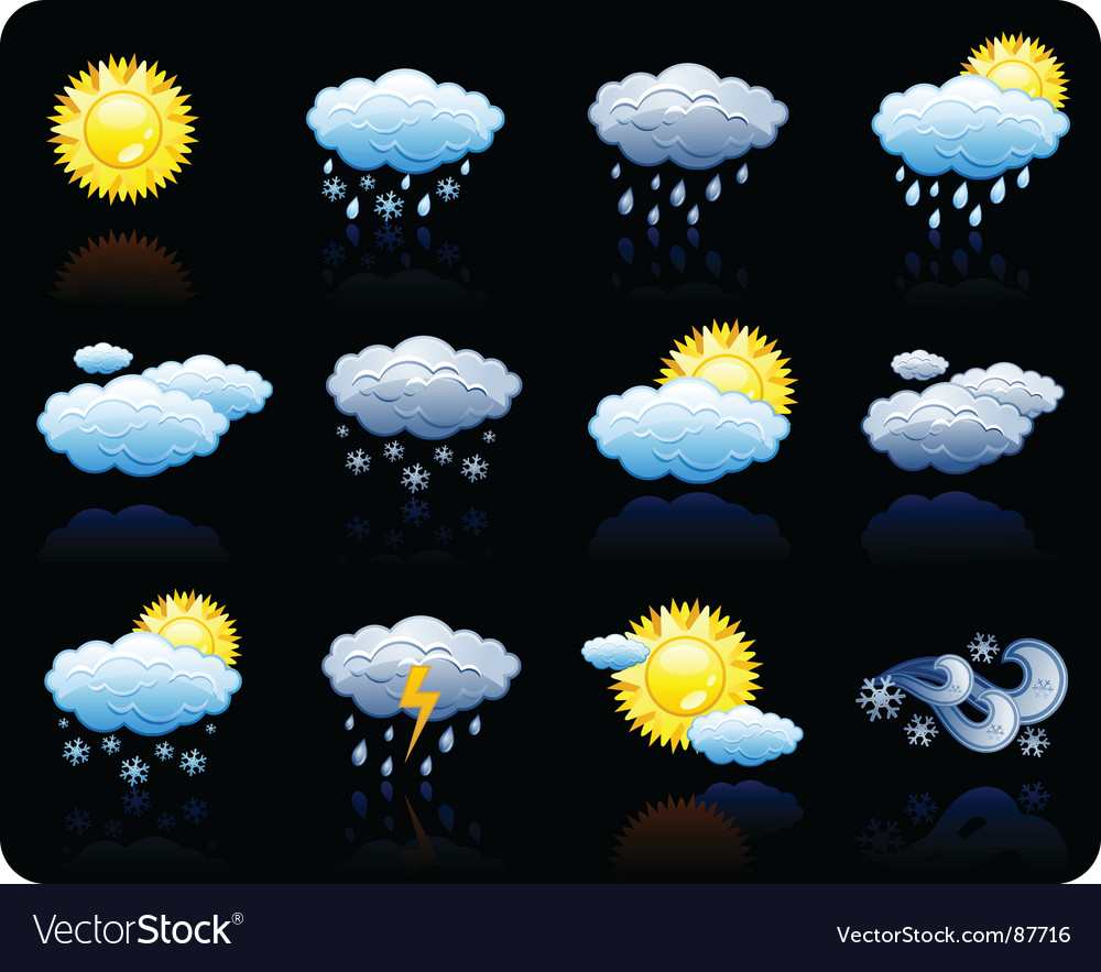 Weather background icon vector