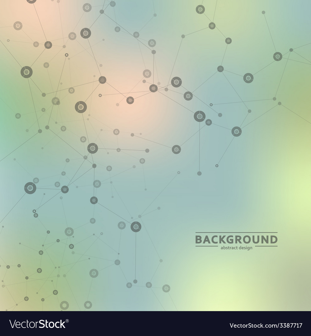 Background blur with a molecular structure vector | Price: 1 Credit (USD $1)