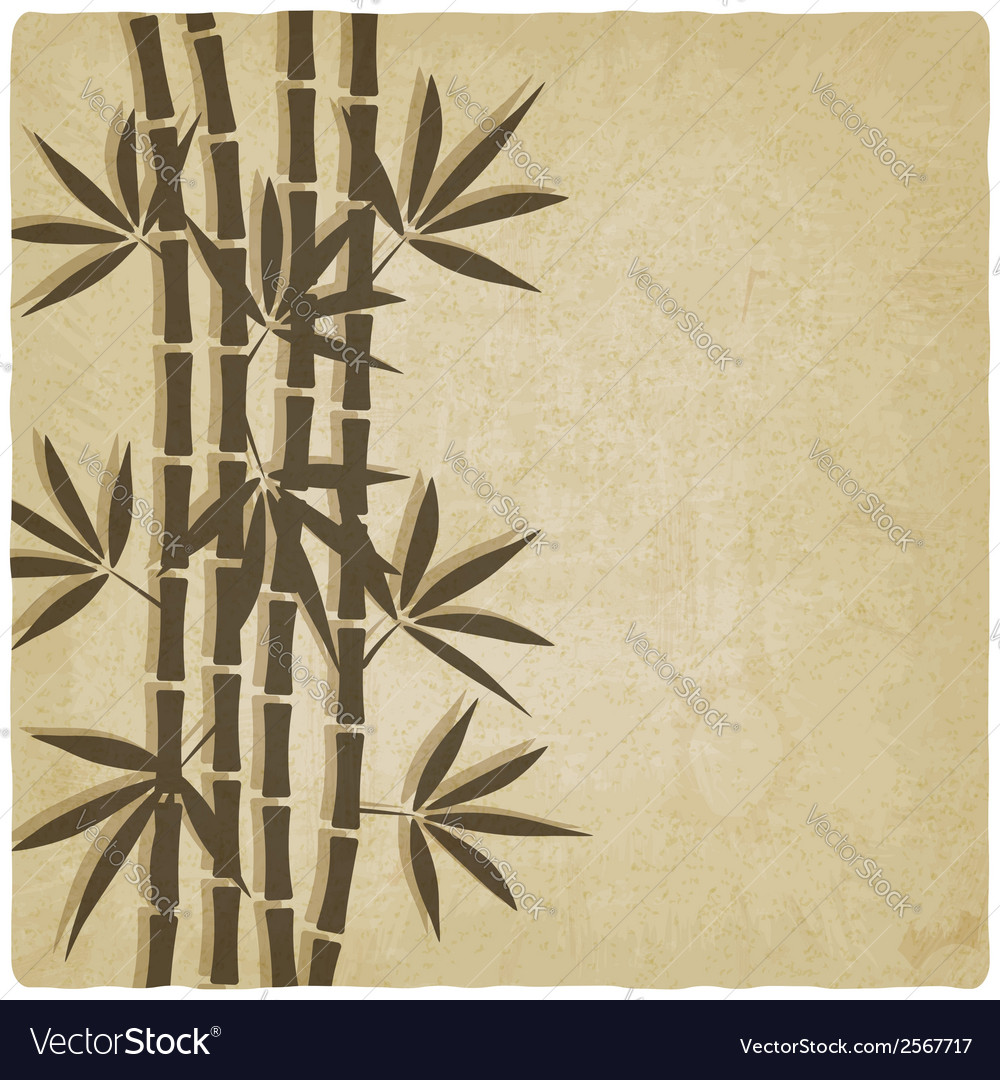 Bamboo old background vector | Price: 1 Credit (USD $1)