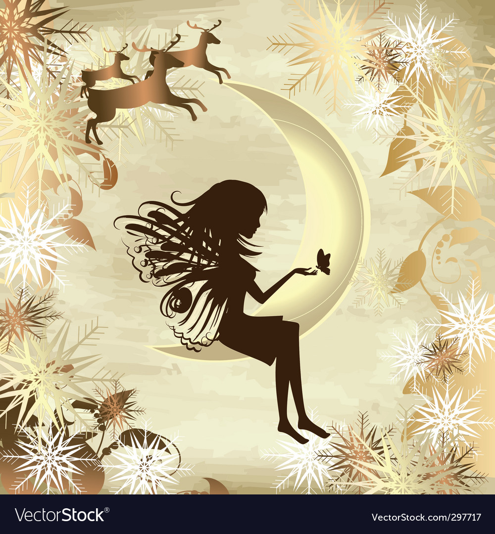 Christmas story gold vector | Price: 1 Credit (USD $1)