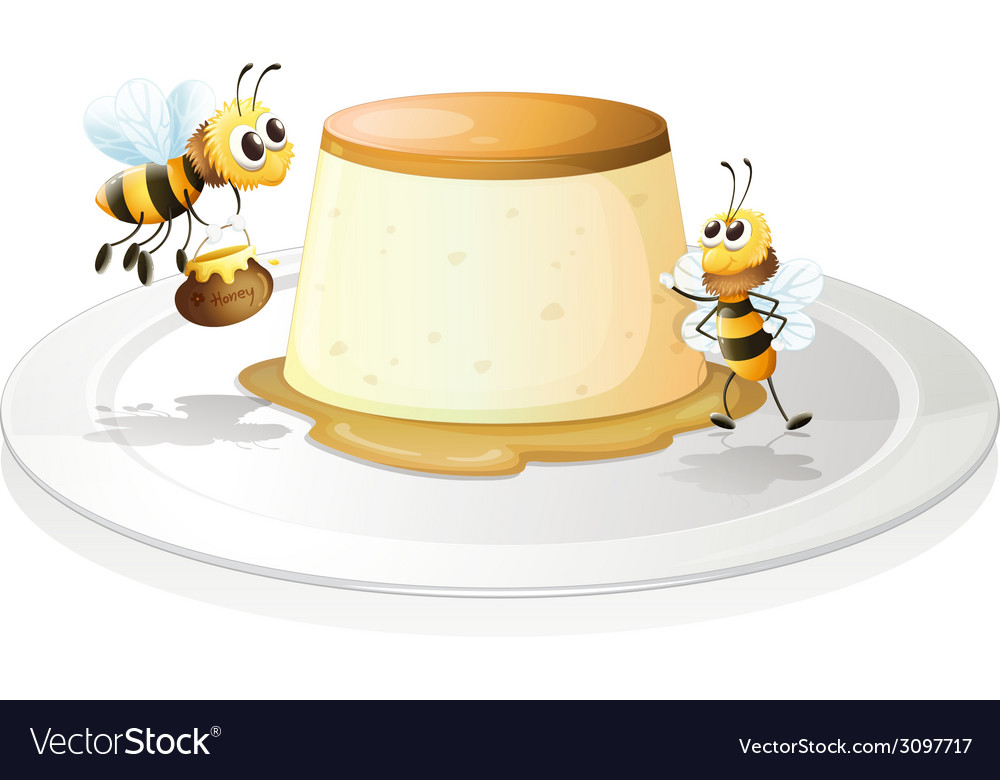 Custard and bees vector | Price: 1 Credit (USD $1)