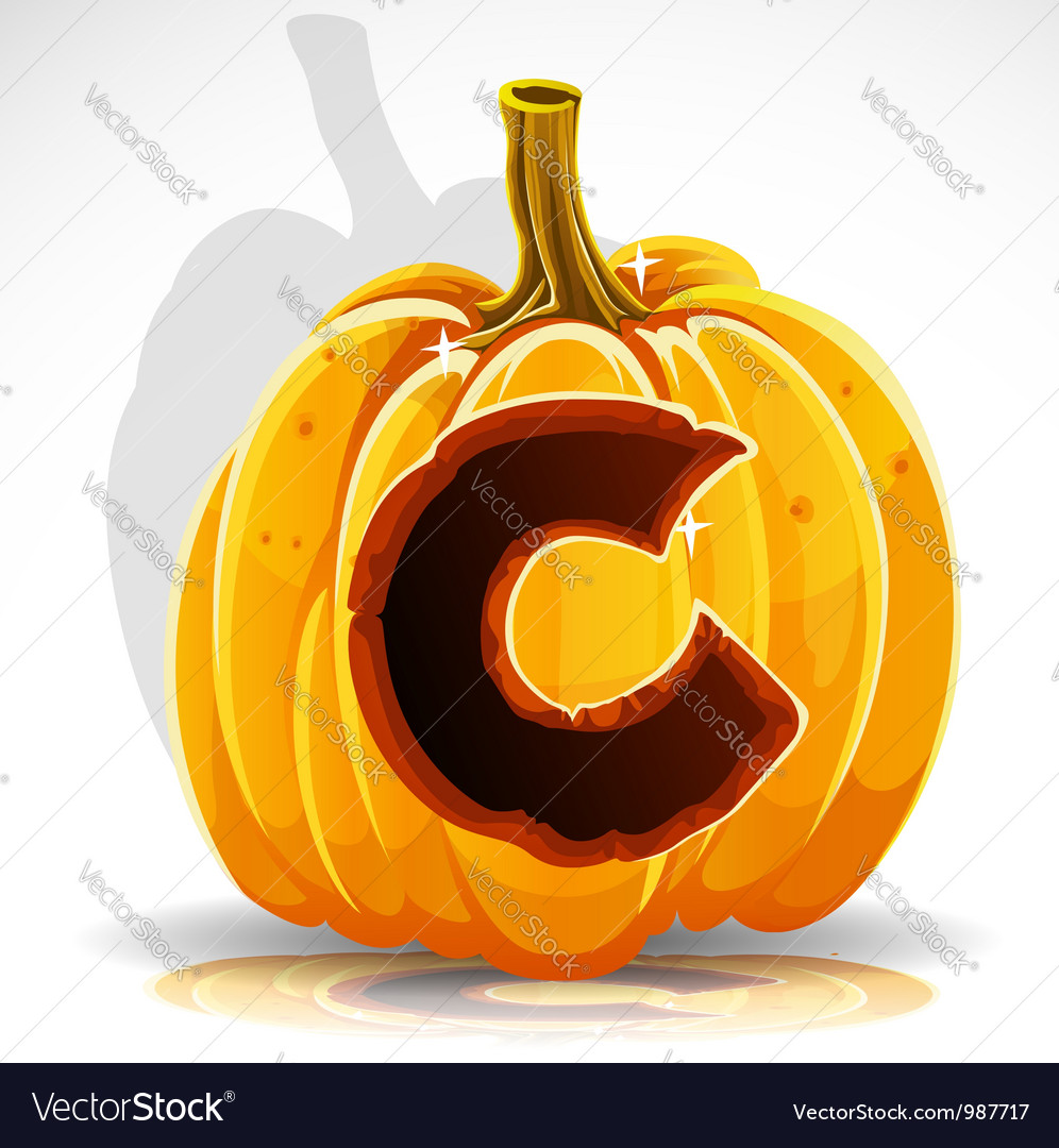 Halloween pumpkin c vector | Price: 1 Credit (USD $1)