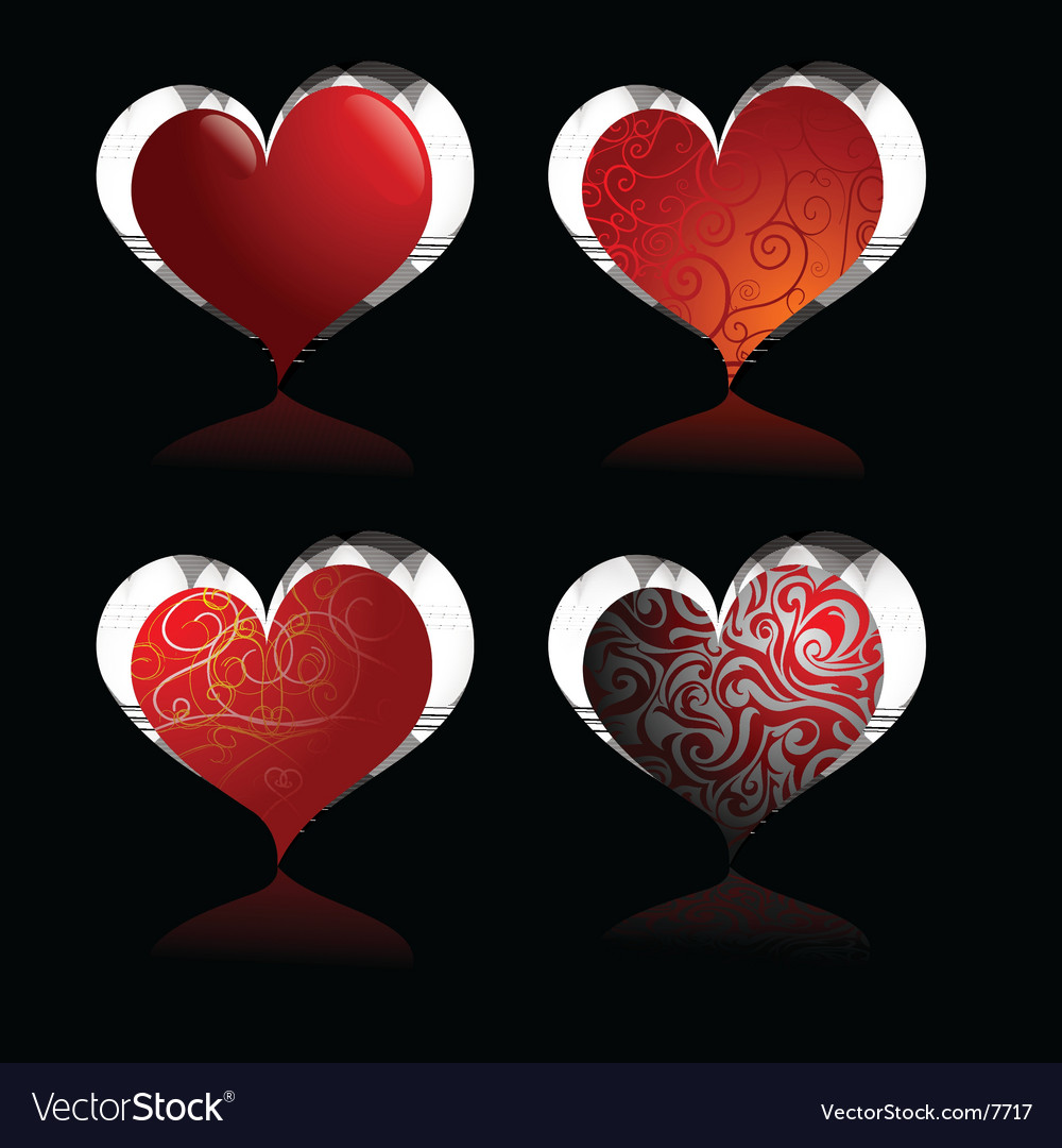 Heart-shapes vector | Price: 1 Credit (USD $1)