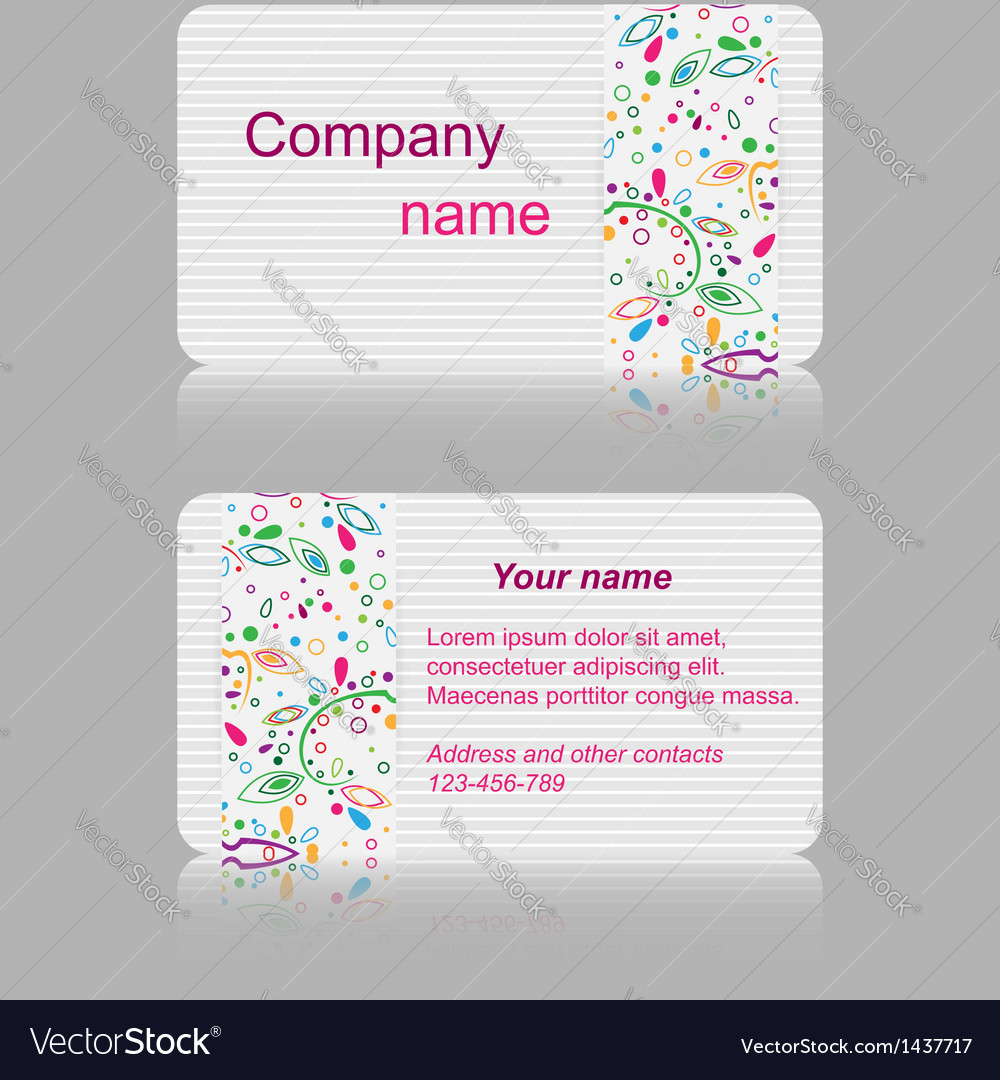 Light gray business card with abstract pattern vector | Price: 1 Credit (USD $1)