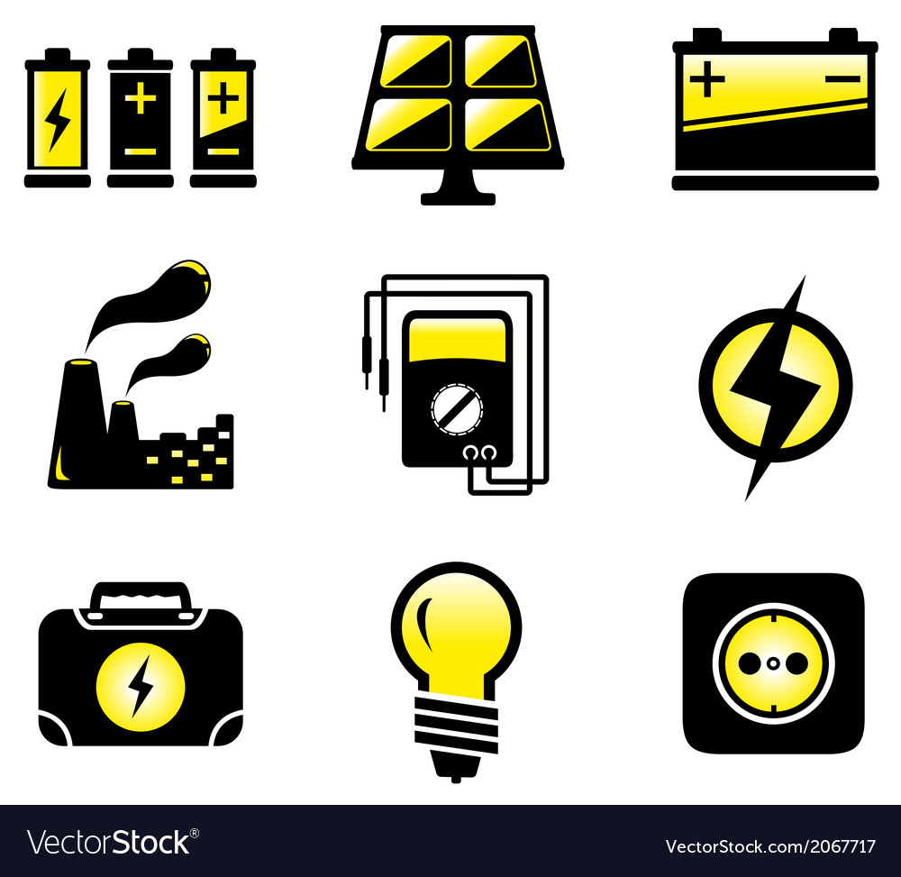 Set electrical equipment vector | Price: 1 Credit (USD $1)