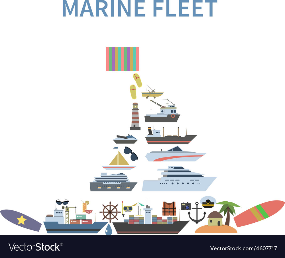 Ship concept flat vector | Price: 1 Credit (USD $1)