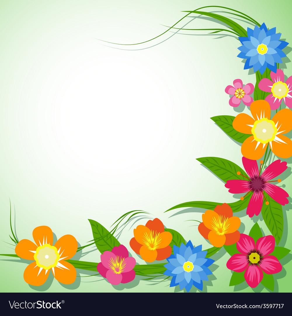 Spring flower background vector | Price: 1 Credit (USD $1)