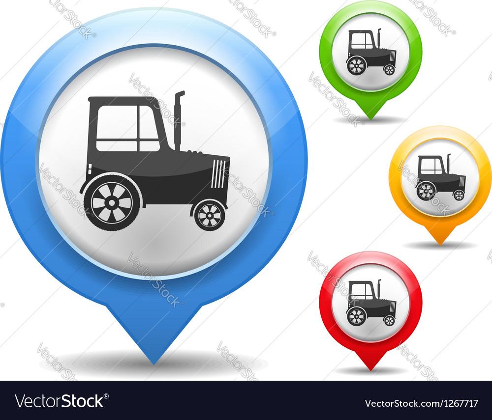 Tractor icon vector   Price: 1 Credit (USD $1)