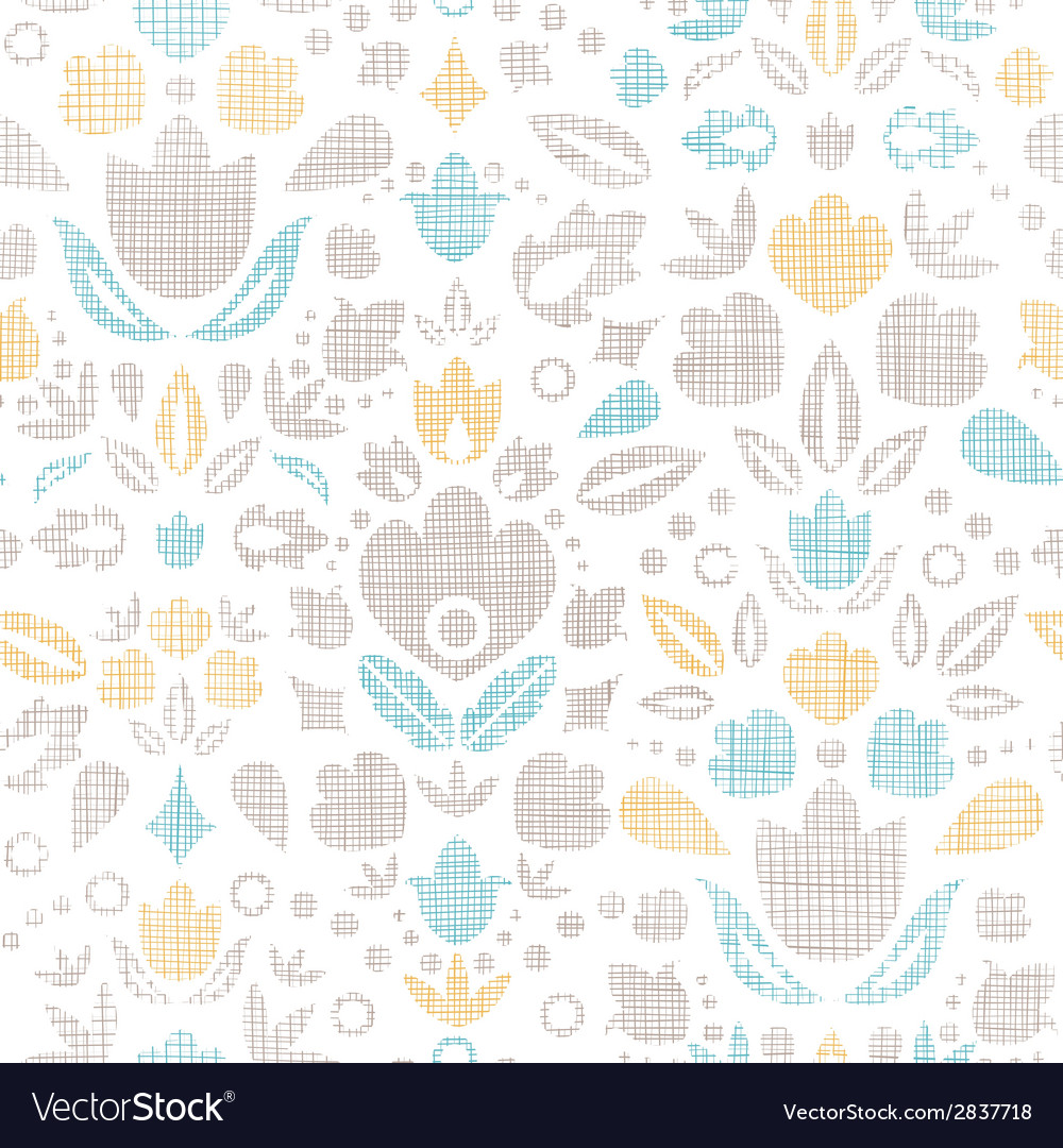 Abstract vintage ornamental tulips textile vector | Price: 1 Credit (USD $1)