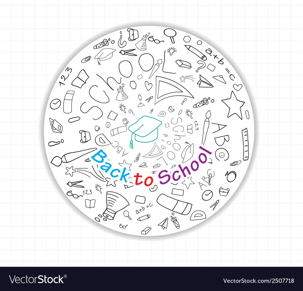 Back to school global icons vector | Price: 1 Credit (USD $1)
