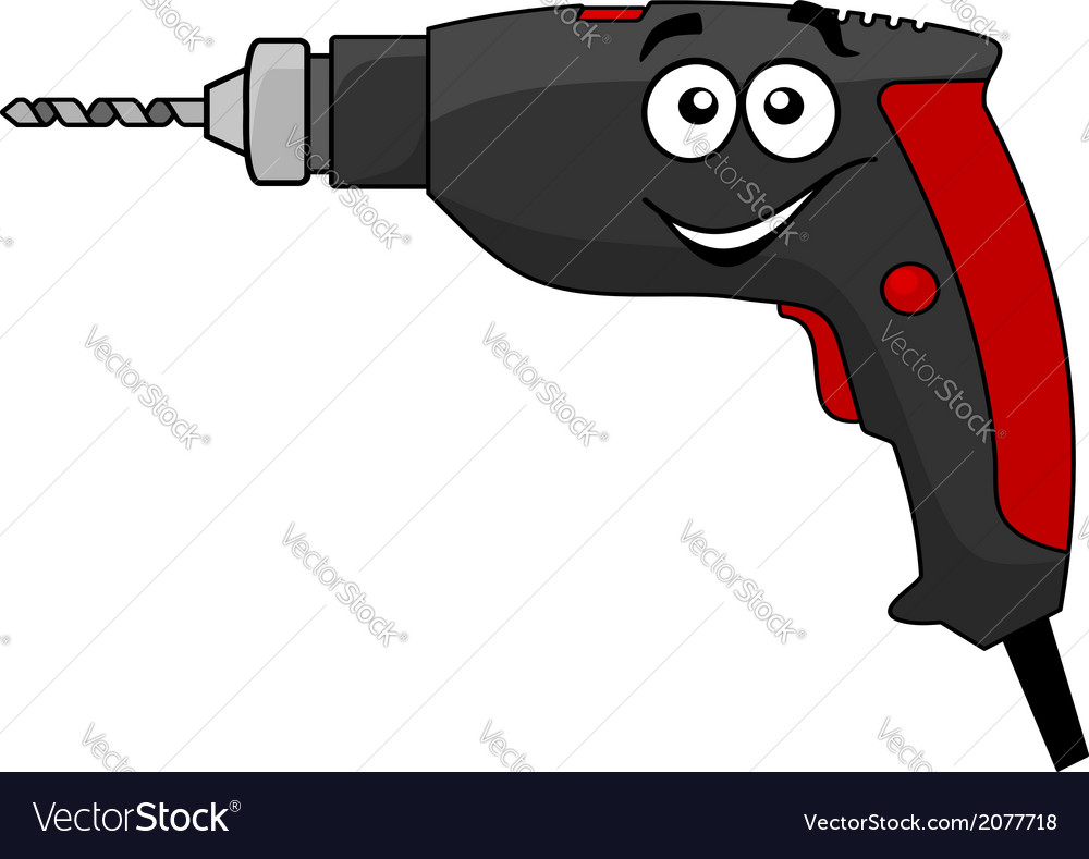 Cartoon power drill tool vector | Price: 1 Credit (USD $1)
