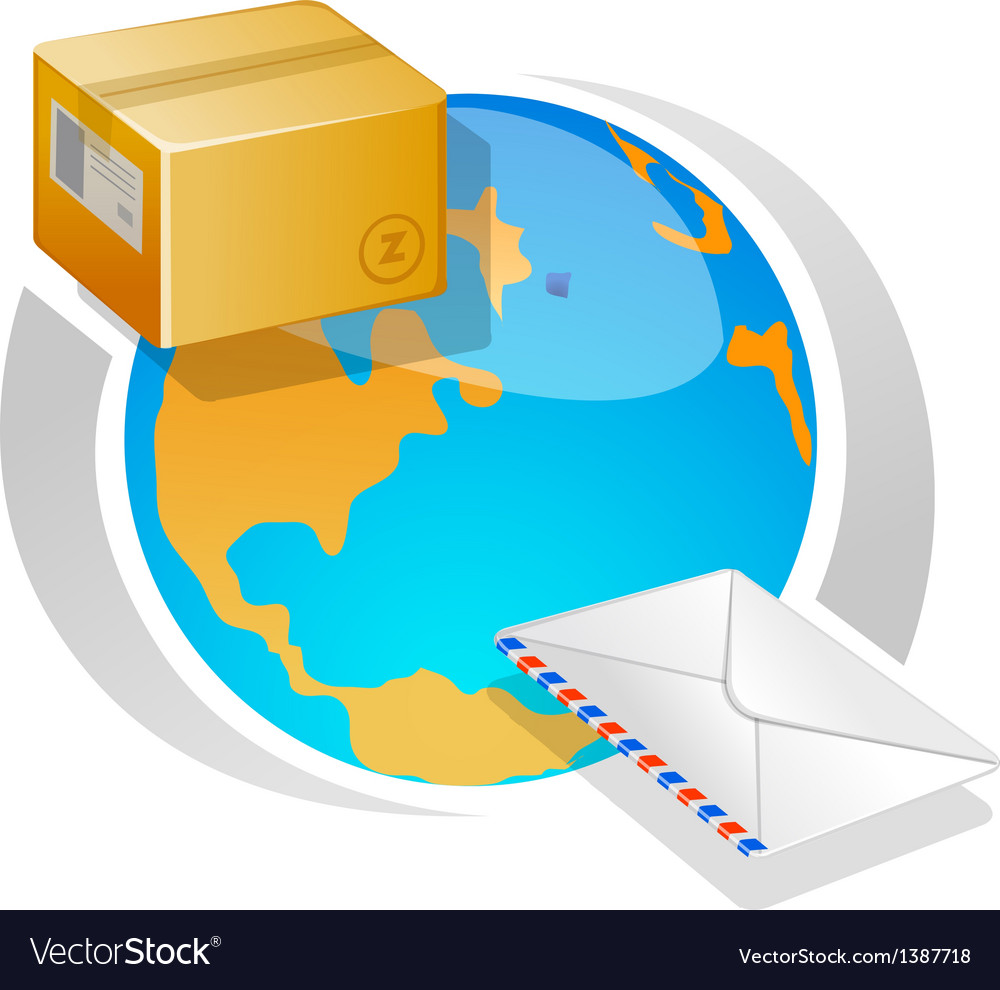 Globe and deliver vector | Price: 1 Credit (USD $1)