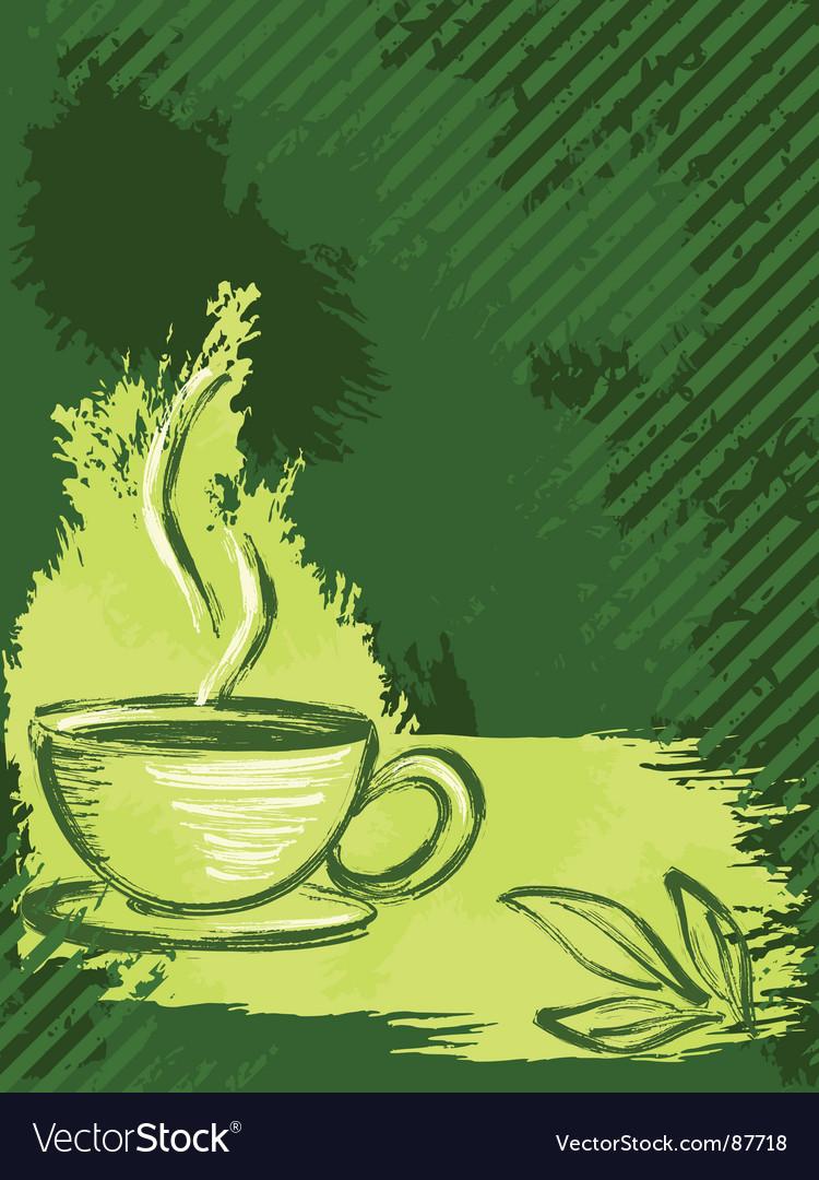 Grunge tea background vector | Price: 1 Credit (USD $1)