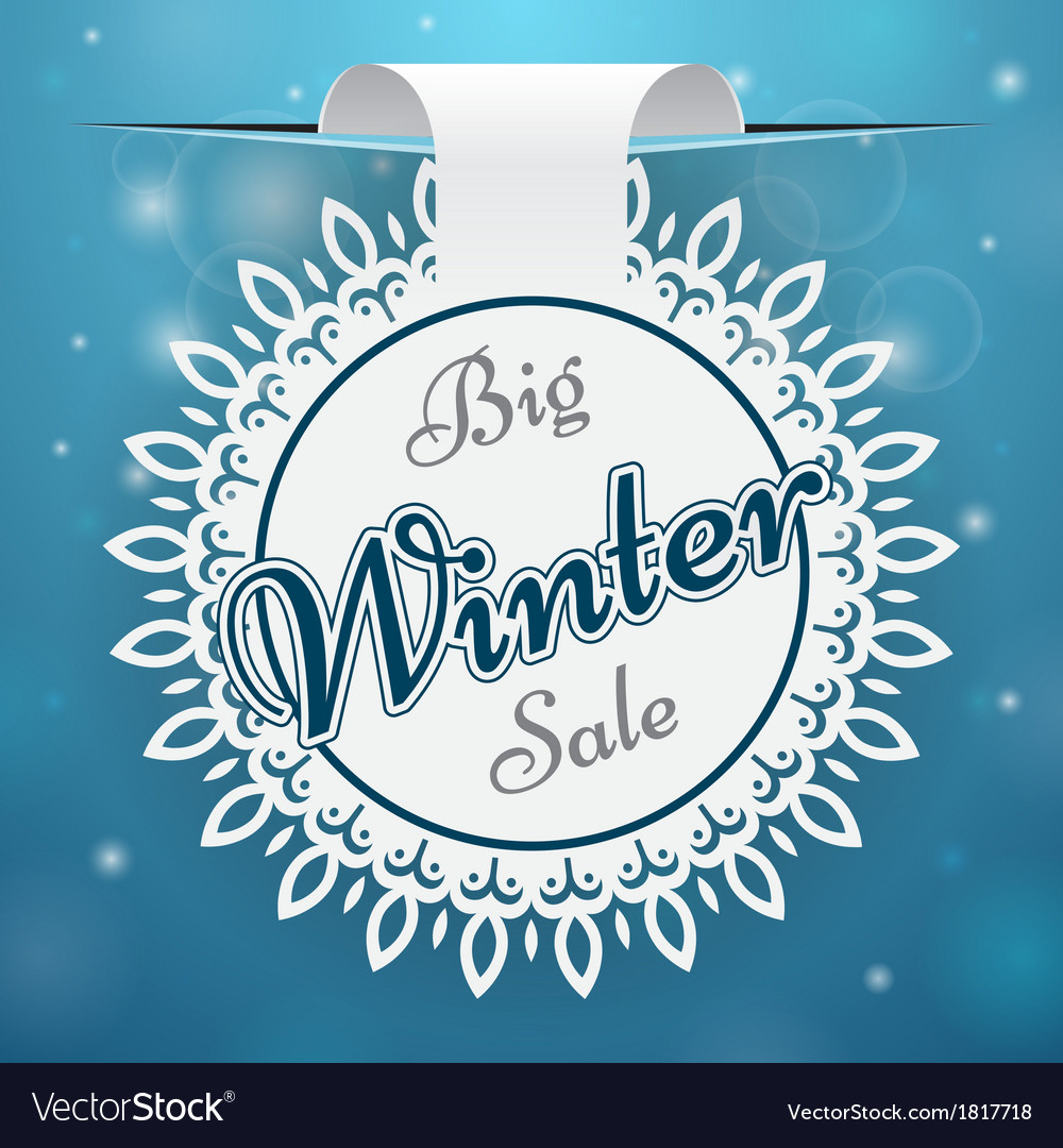 Paper price tag big winter sale vector | Price: 1 Credit (USD $1)