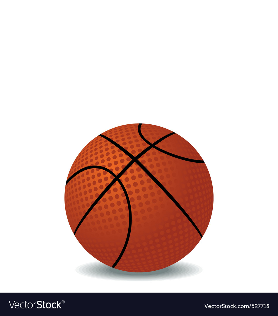 Realistic illustration of basket ball vector | Price: 1 Credit (USD $1)