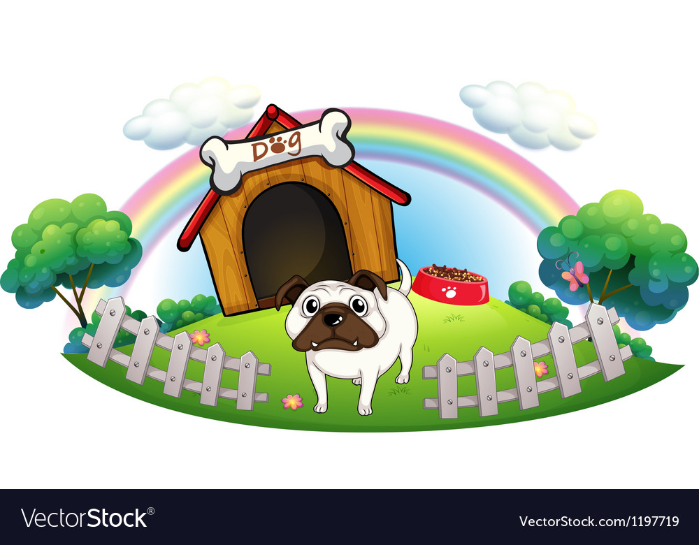 A dog with a doghouse vector | Price: 1 Credit (USD $1)