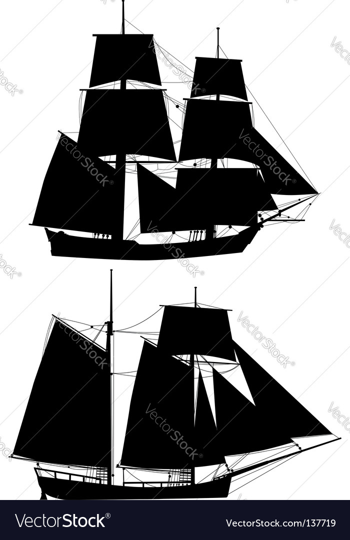 Ancient tall ships vector | Price: 1 Credit (USD $1)