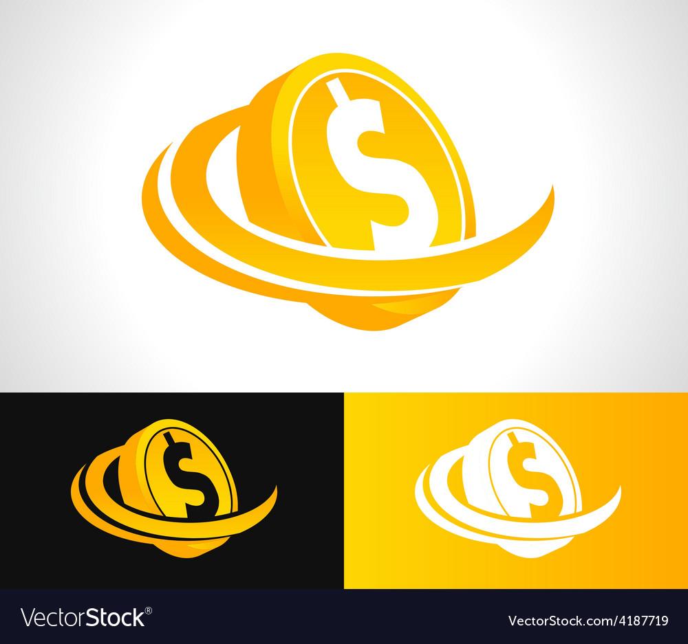 Dollar coin logo icon vector | Price: 1 Credit (USD $1)