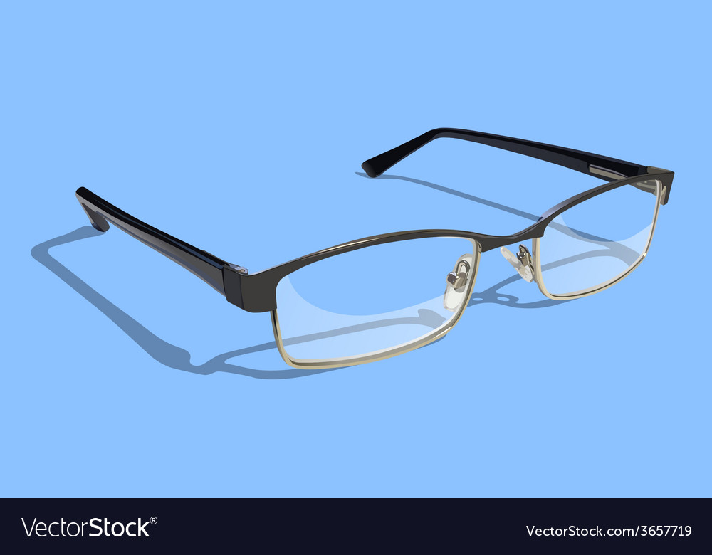 Glasses with blue background vector | Price: 1 Credit (USD $1)