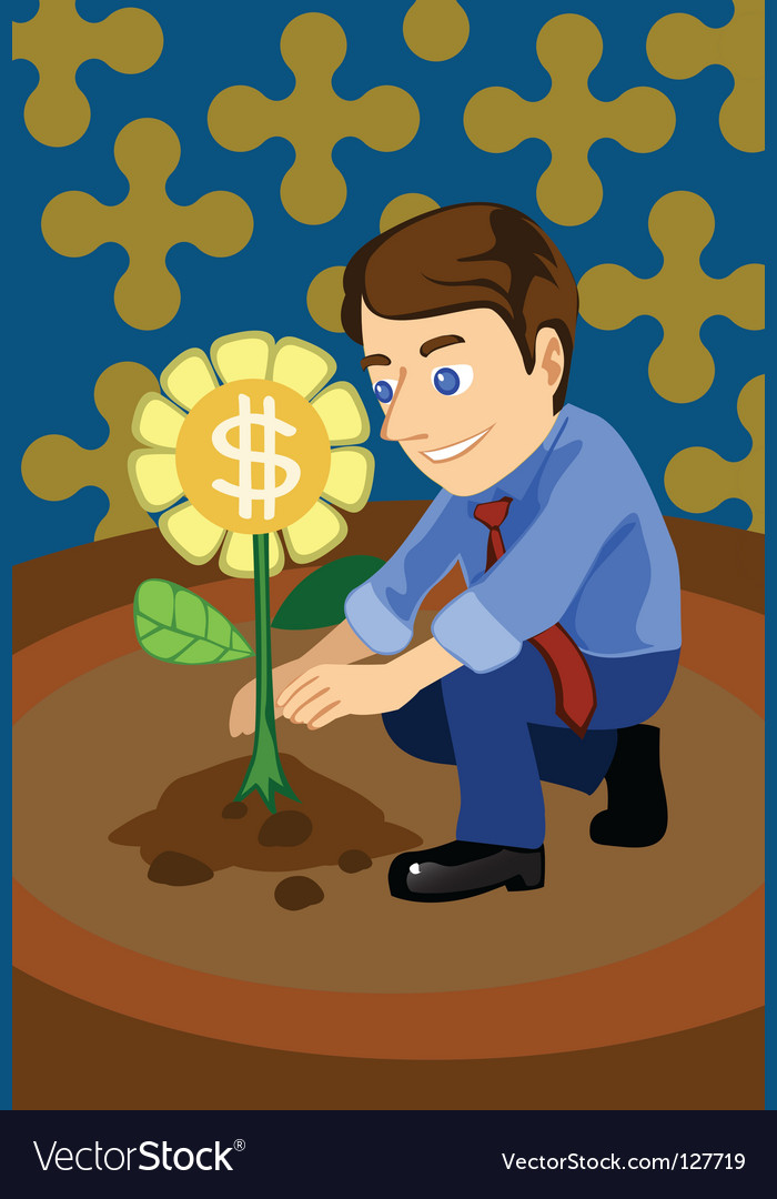 Grow money vector | Price: 1 Credit (USD $1)