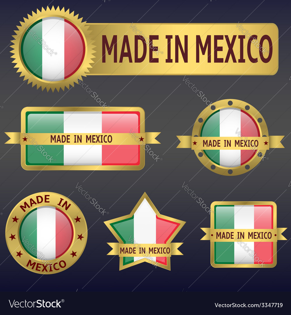 Made in mexico vector | Price: 3 Credit (USD $3)