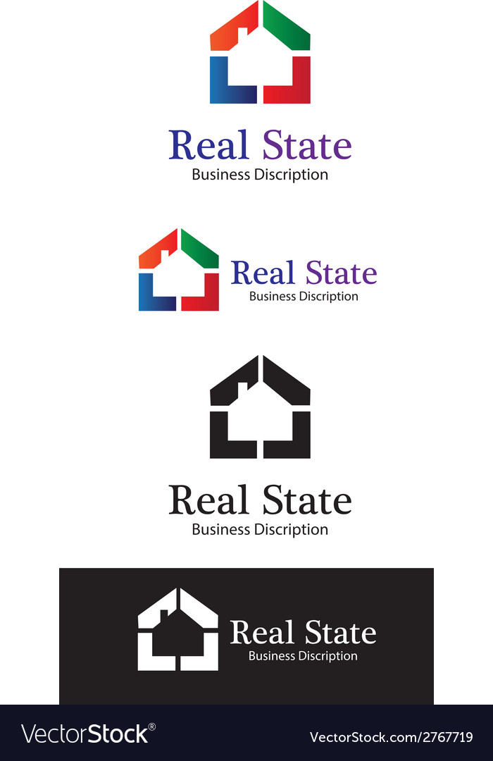 Real state logo template perview vector | Price: 1 Credit (USD $1)